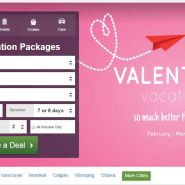Valentine's Day Travel Deals page