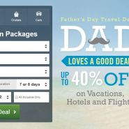 Father's Day Travel Deal page